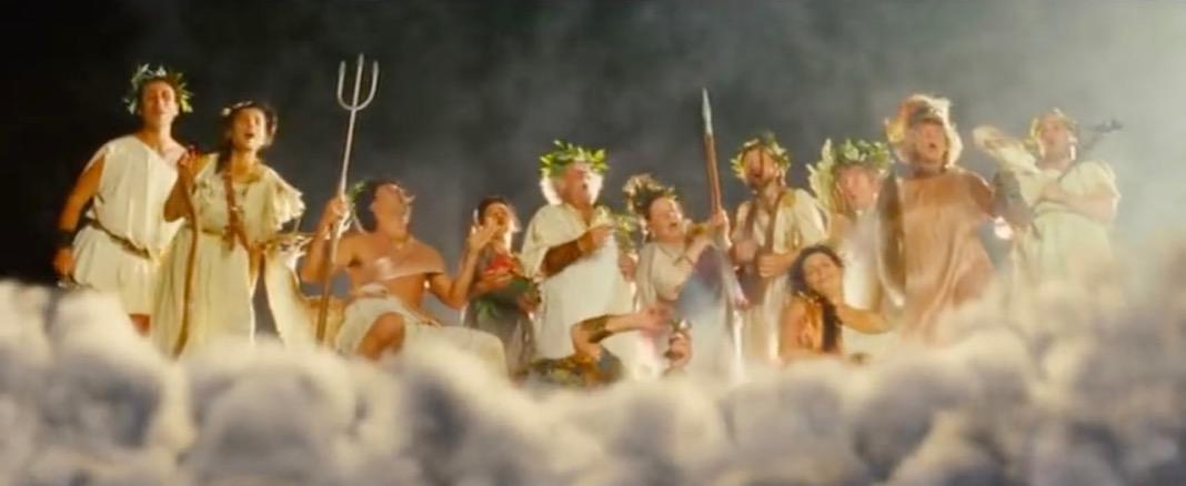 Mamma Mia Olympian Gods Scene