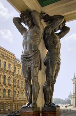 Atlantes of Hermitage Portico Russia