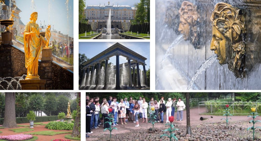 Gardens of Peterhof Palace St Petersburg