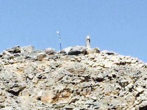 Greek Flag on Mt Olympus
