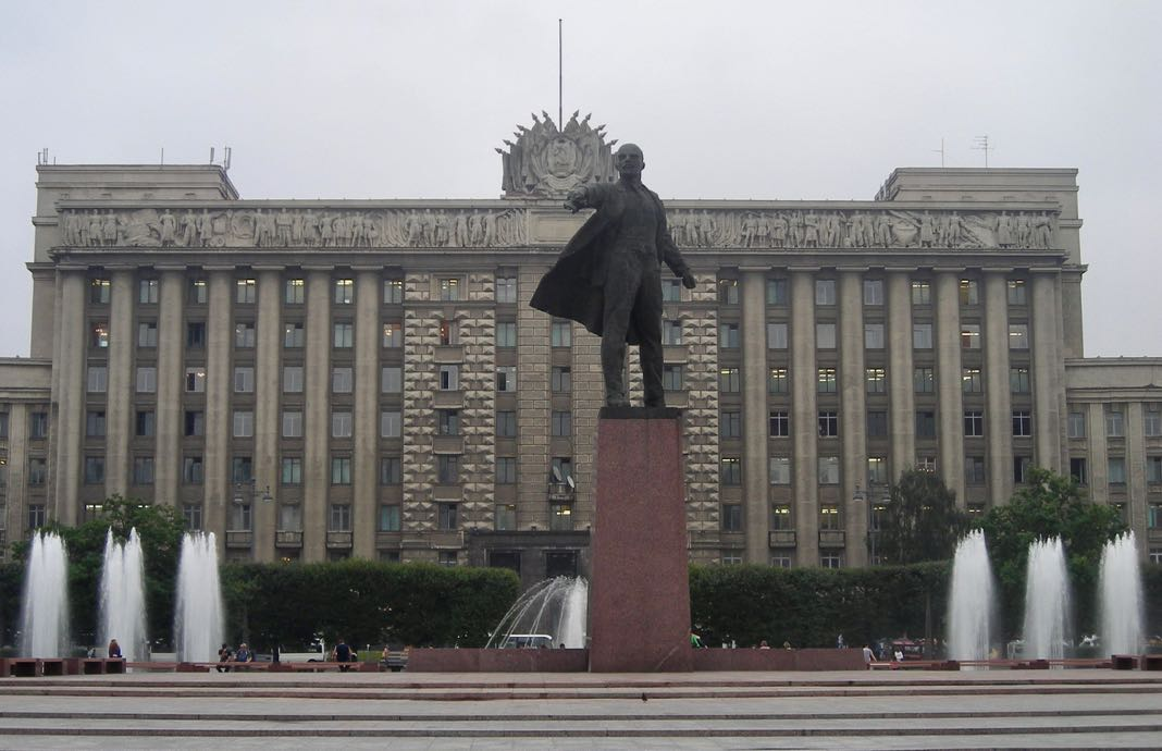 Lenin Statue Moscow Square Saint Petersburg