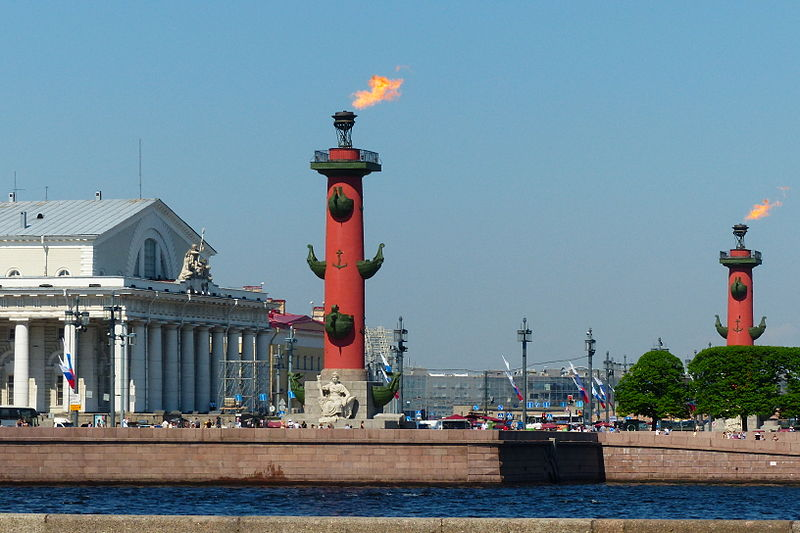 Rostral Columns St Petersburg Russia