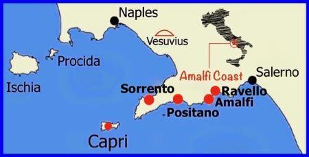 The Amalfi Coast Map