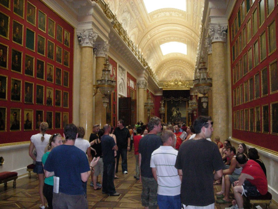 Tourists in the Hermitage War Gallery