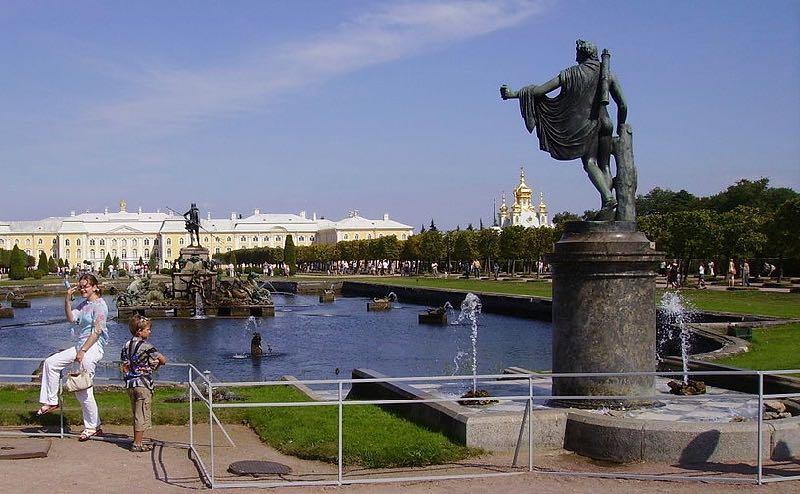 Upper Gardens of Peterhof Apollo Neptune