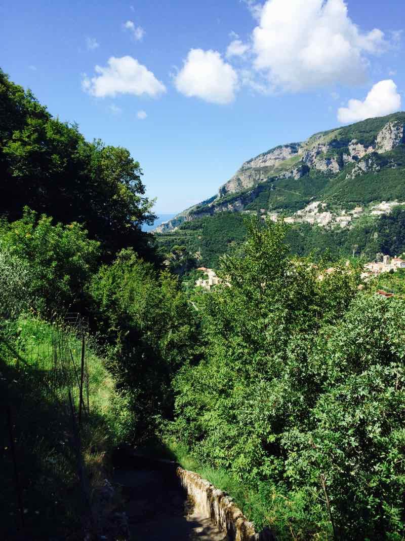 Walking to Amalfi Italy
