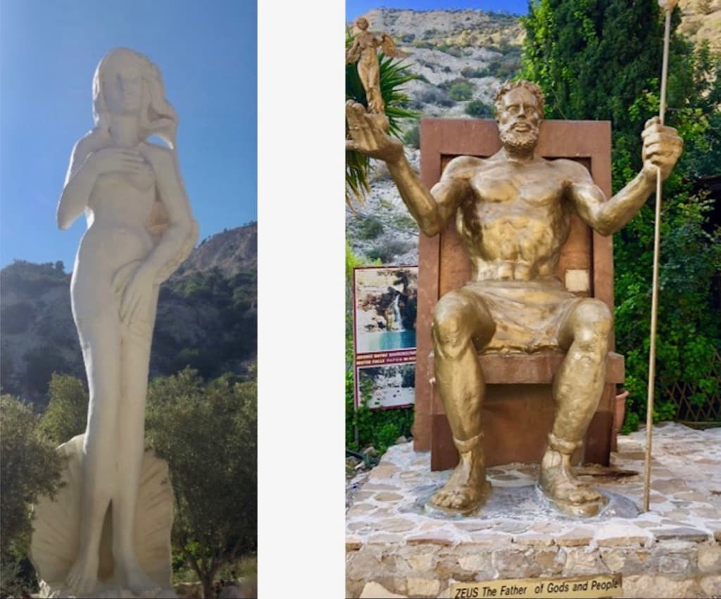 Statue of Aphrodite and Zeus Cyprus