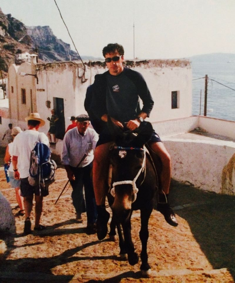 Donkey ride Santorini