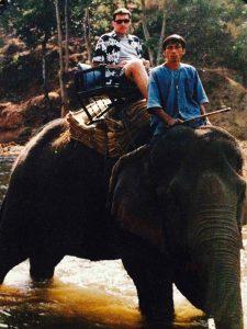 Riding an elephant Thailand