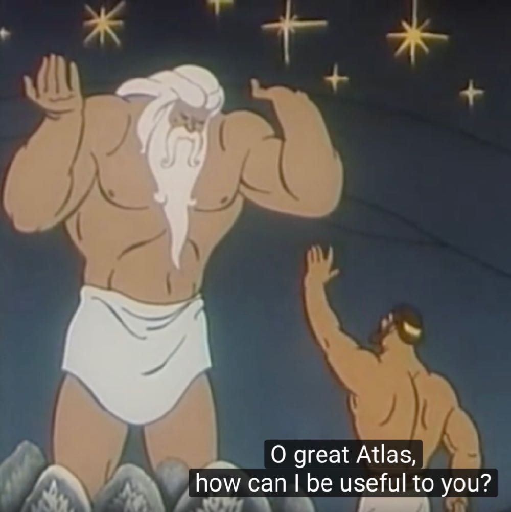Atlas Hercules Olympus Animated Cartoons