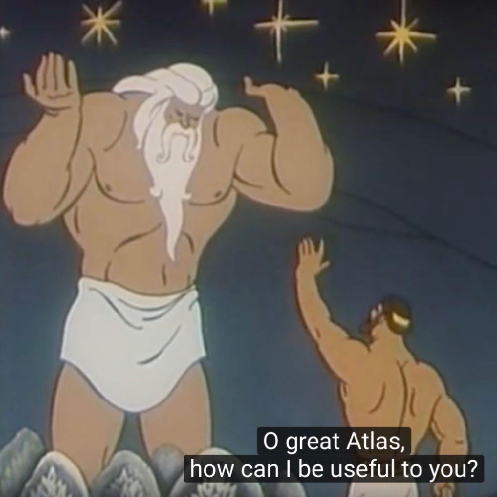 Atlas Hercules Olympus Animated Cartoons