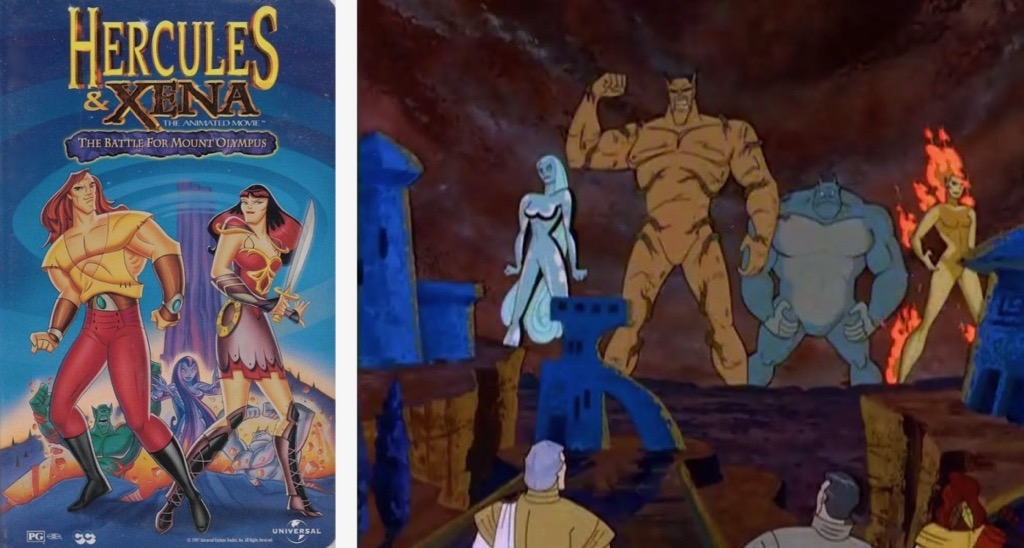 Hercules and Xena The Animated Movie The Battle for Mount Olympus Animated Cartoon