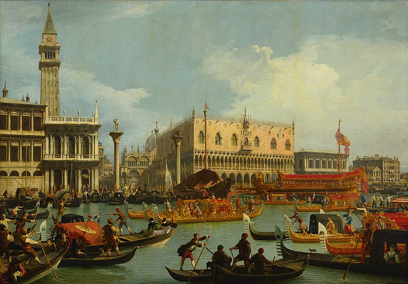 Bucentaur's return to the pier by the Palazzo Ducale