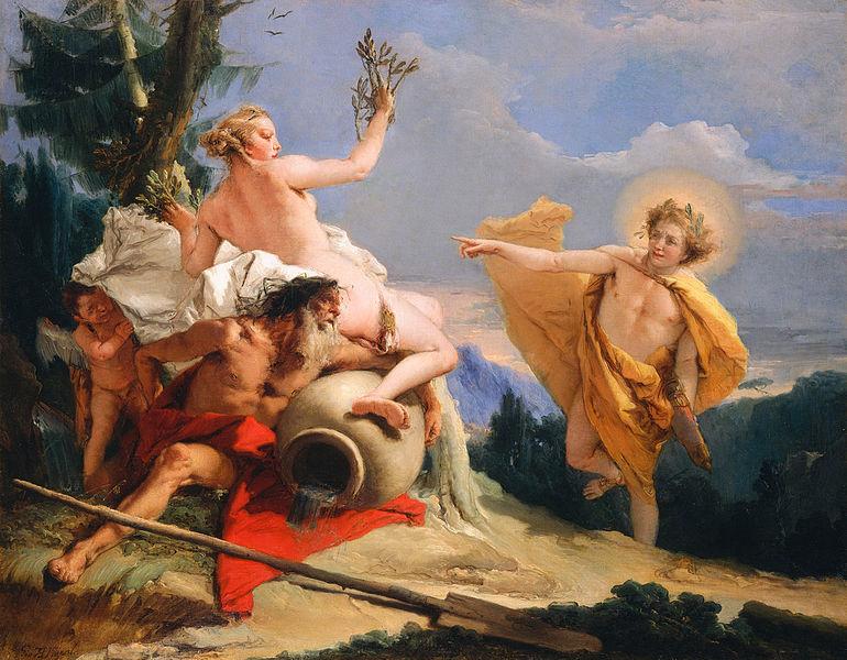 Greek Mythology Painting Apollo and Daphne