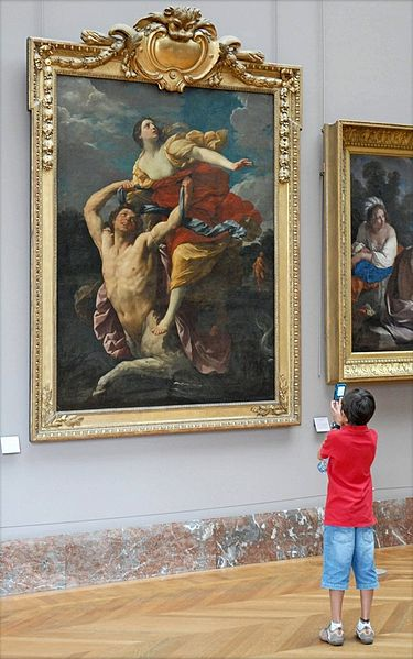 Greek Mythology Paintings admired by Louvre-visitor