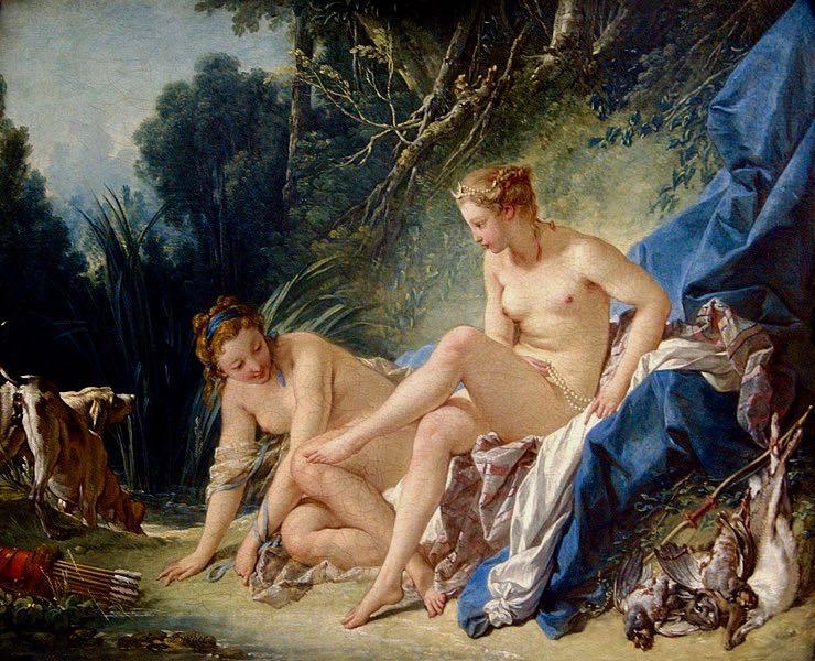 Greek Mythology Paintings in France Artemis Diana
