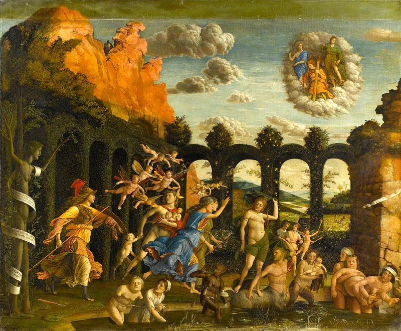 Greek Mythology Paintings in France Triumph of Virtue