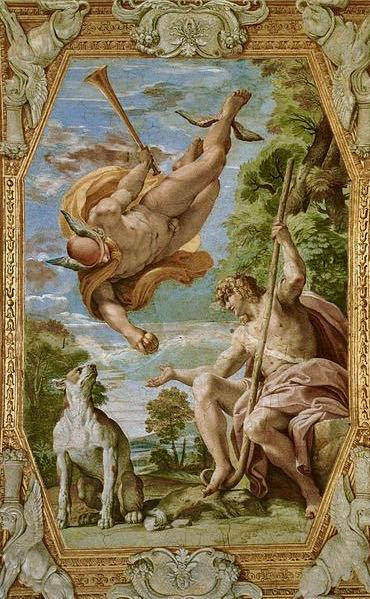 Greek Mythology Paintings in Rome Mercury and Paris