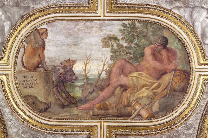 Hercules Resting Fresco Palazzo Farnese