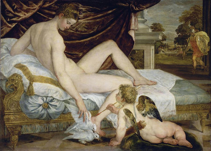 Venus Cupid and Mars Painting Louvre