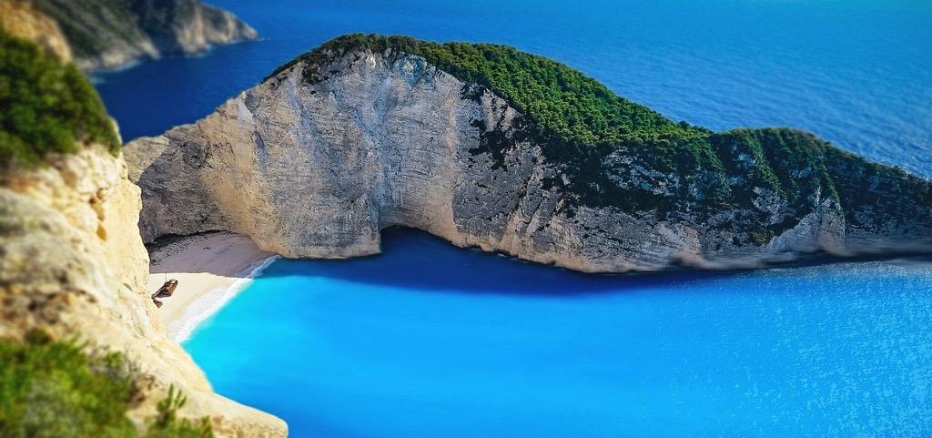 Shipwreck beach in Greece