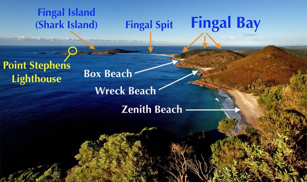 Fingal Bay Fingal Spit Fingal Island Port Stephens
