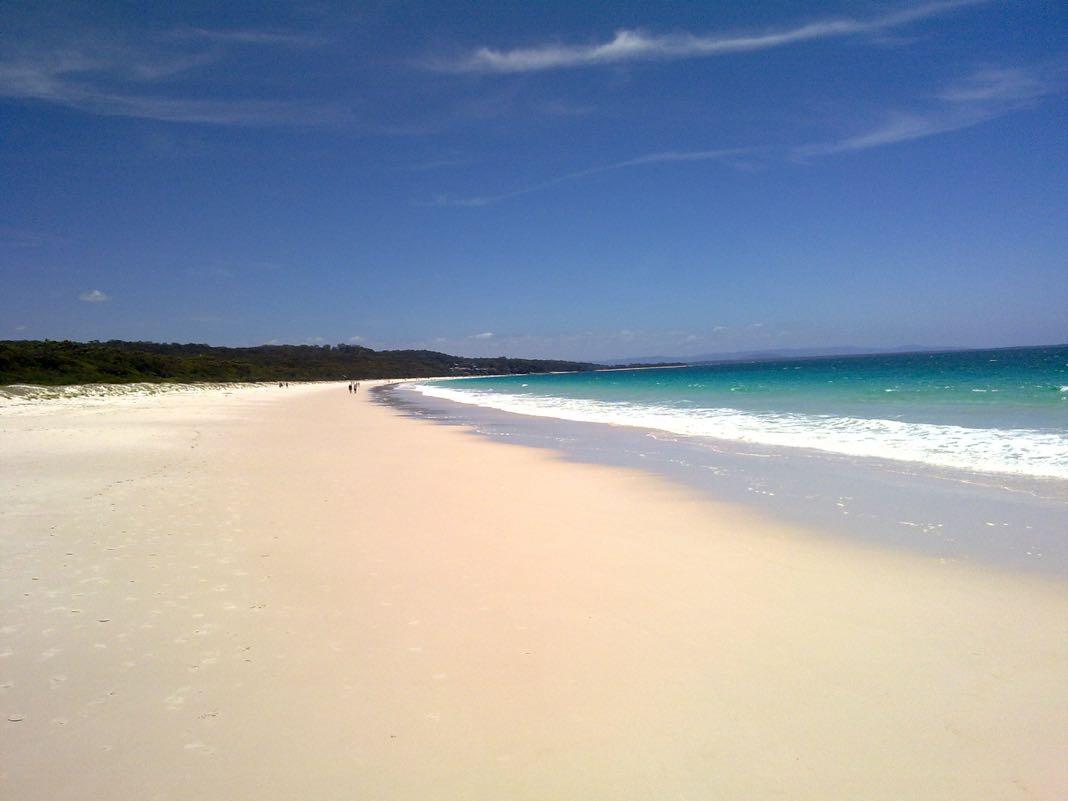 Whitest sand beach in Australia Hyams Beach