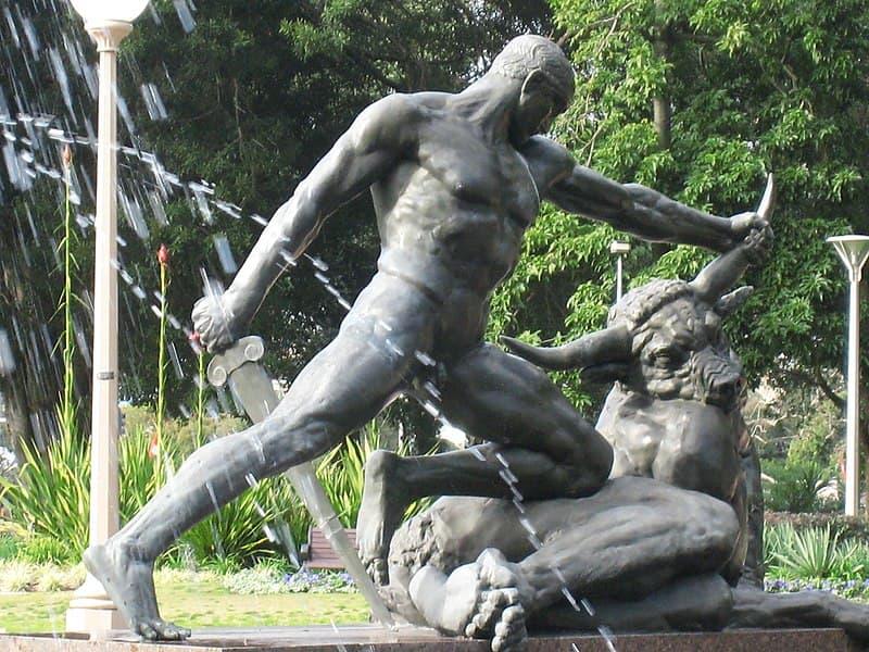 Archibald Fountain Theseus and the minotaur in Australia
