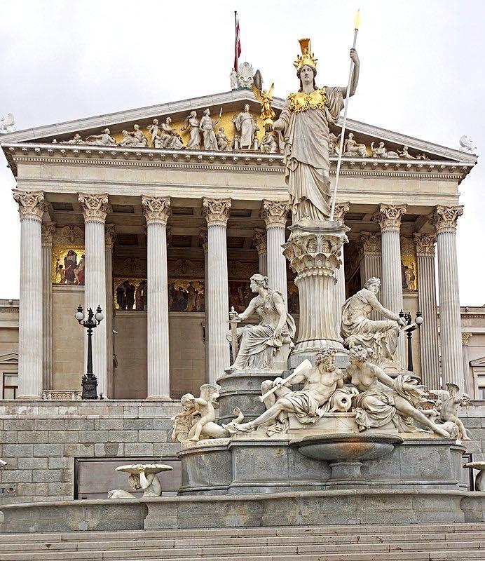 Athena Fountain Austrian Parliament Building