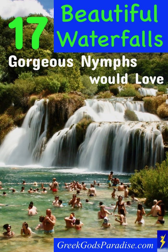 Beautiful Waterfall with Gorgeous Nymphs