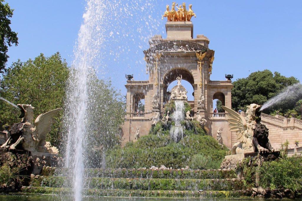Cascada Parc de la Ciutadella Barcelona Spain