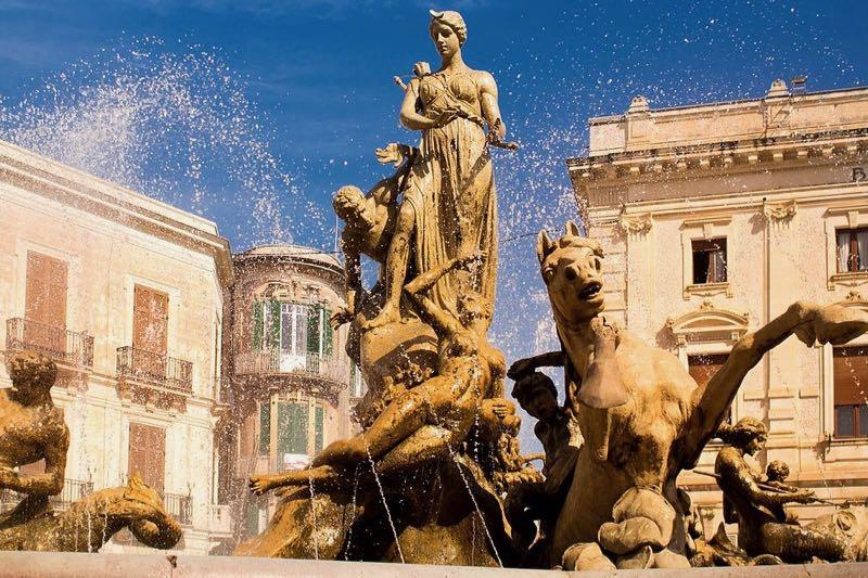 Diana fountain Artemis Piazza Archimede Siracusa Sicily