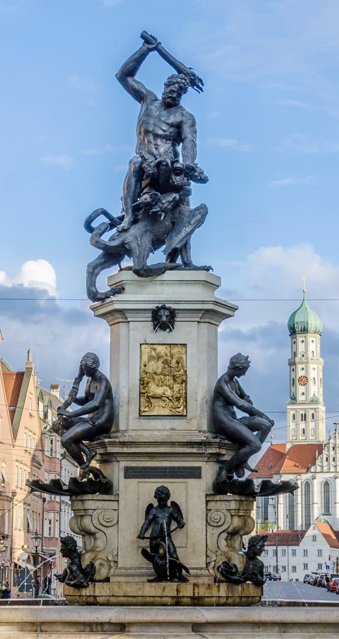 Hercules fountain Augsburg Germany