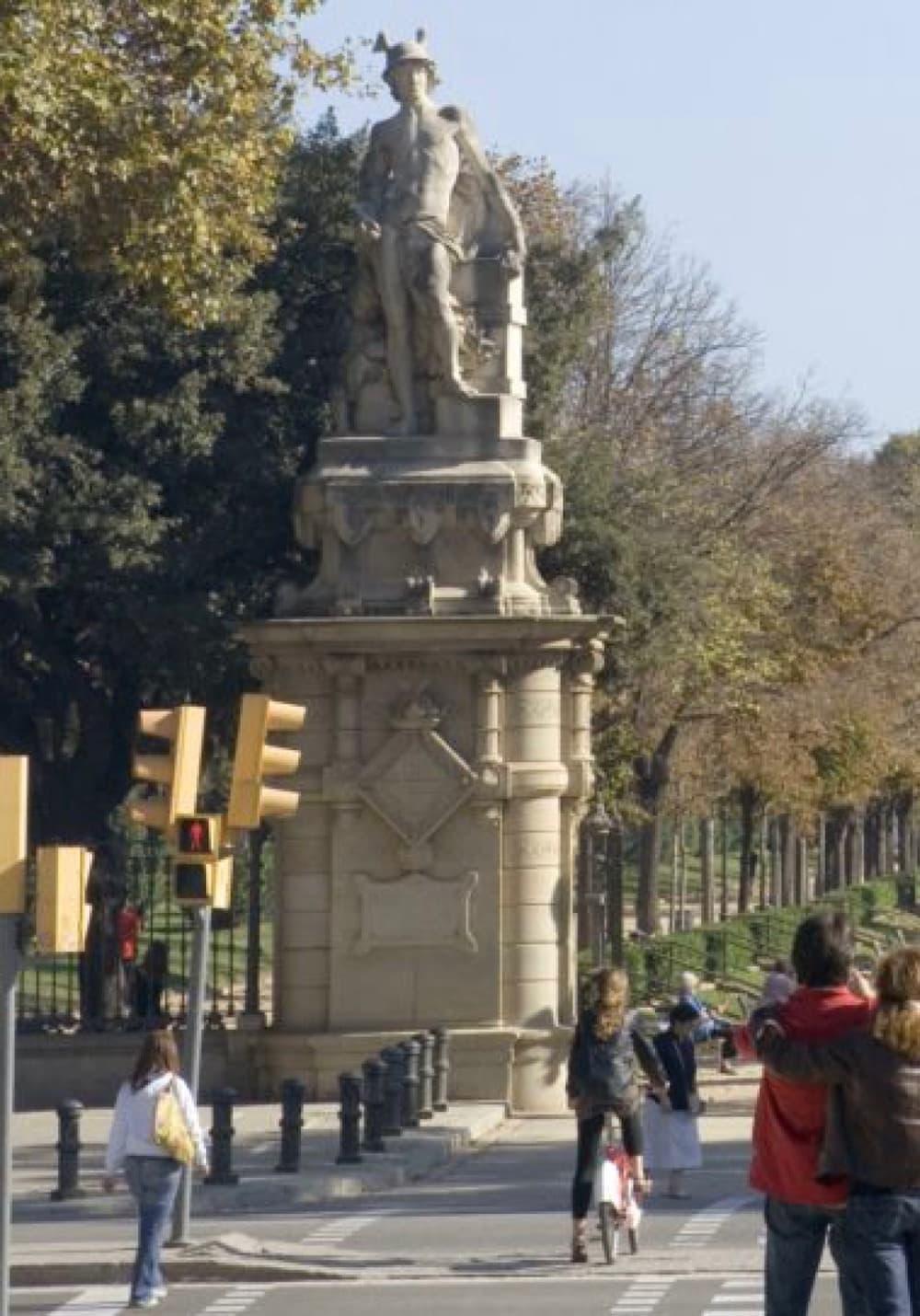 Mercury Statue at Entrance of Parc de la Ciutadella Barcelona