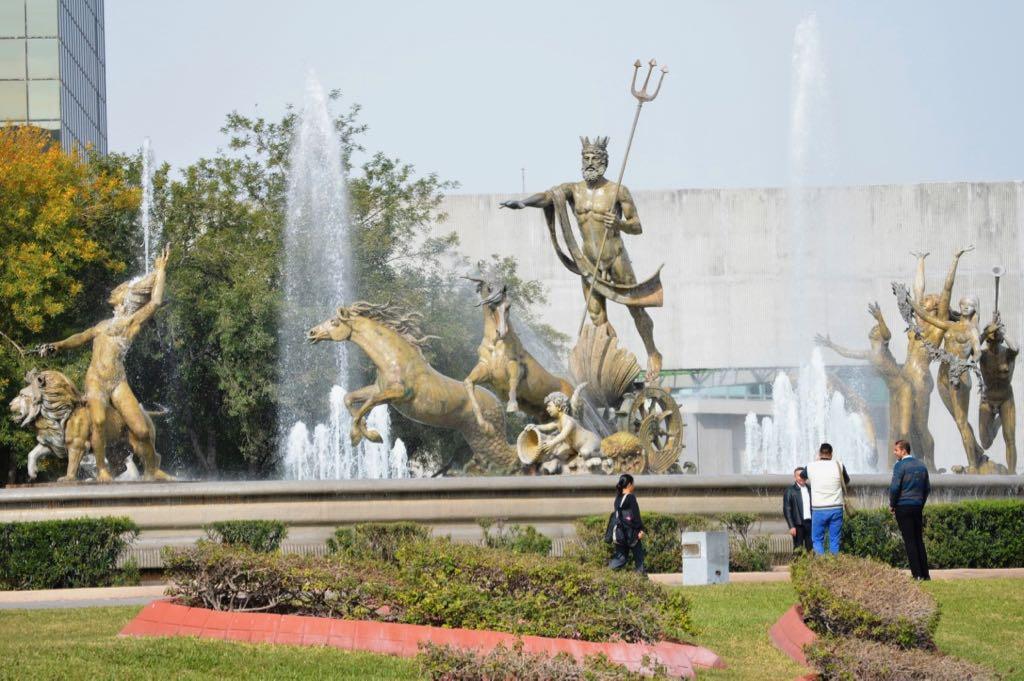 Neptune Fountain Monterrey Mexico