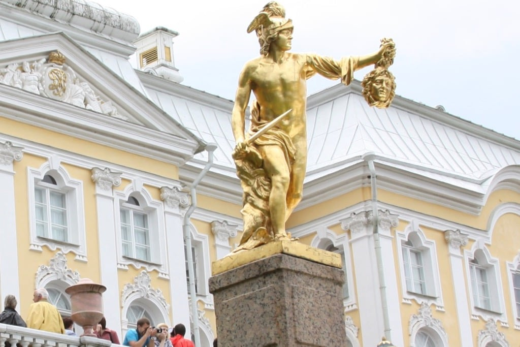 Peterhof fountain Perseus with the head of Medusa
