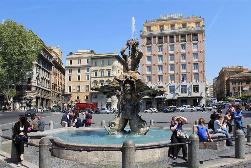 Rome Triton fountain Piazza Barberini