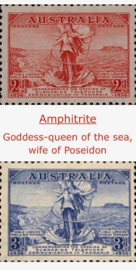Amphitrite Goddess queen of the sea wife of Poseidon