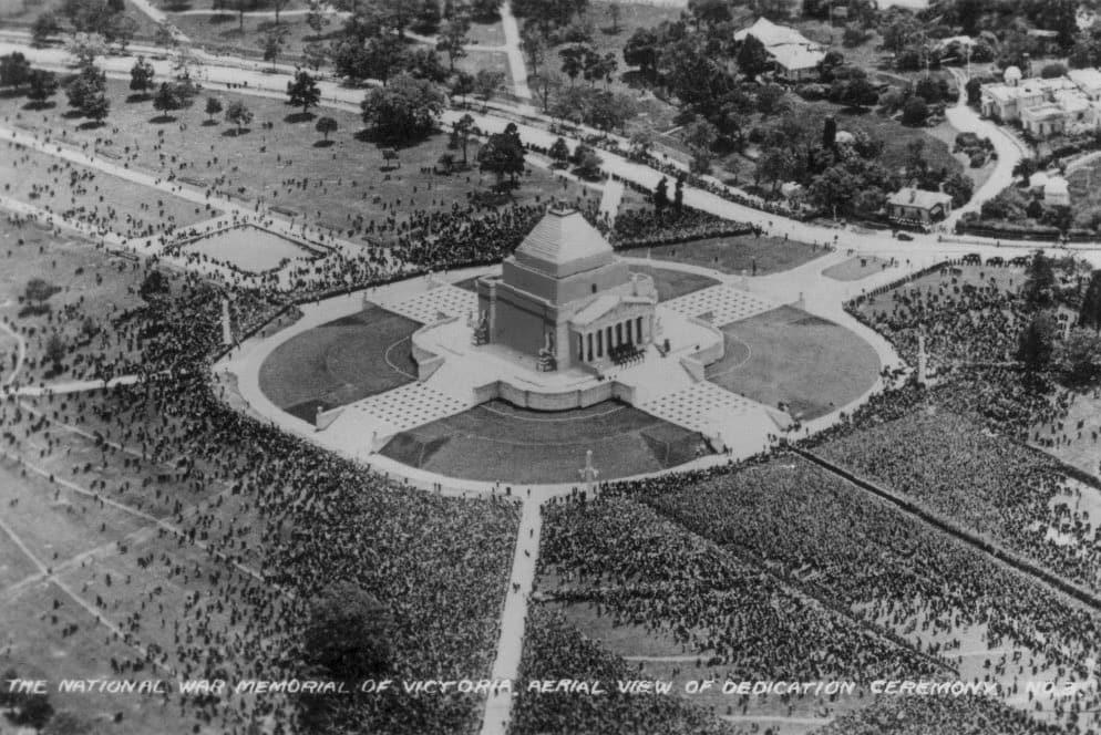 Ceremony Shrine of Remembrance Melbourne Australia 1934