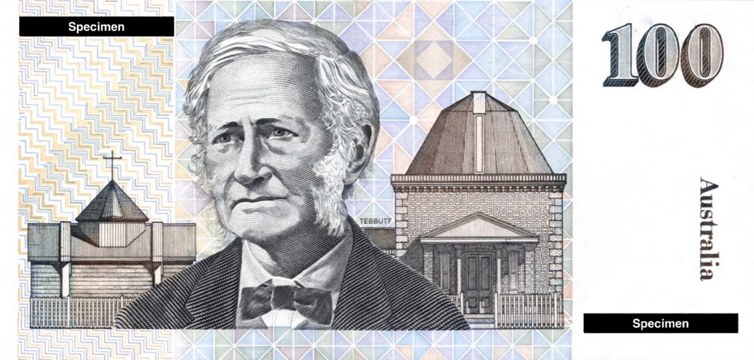 John Tebbutt Atlas Australian Note
