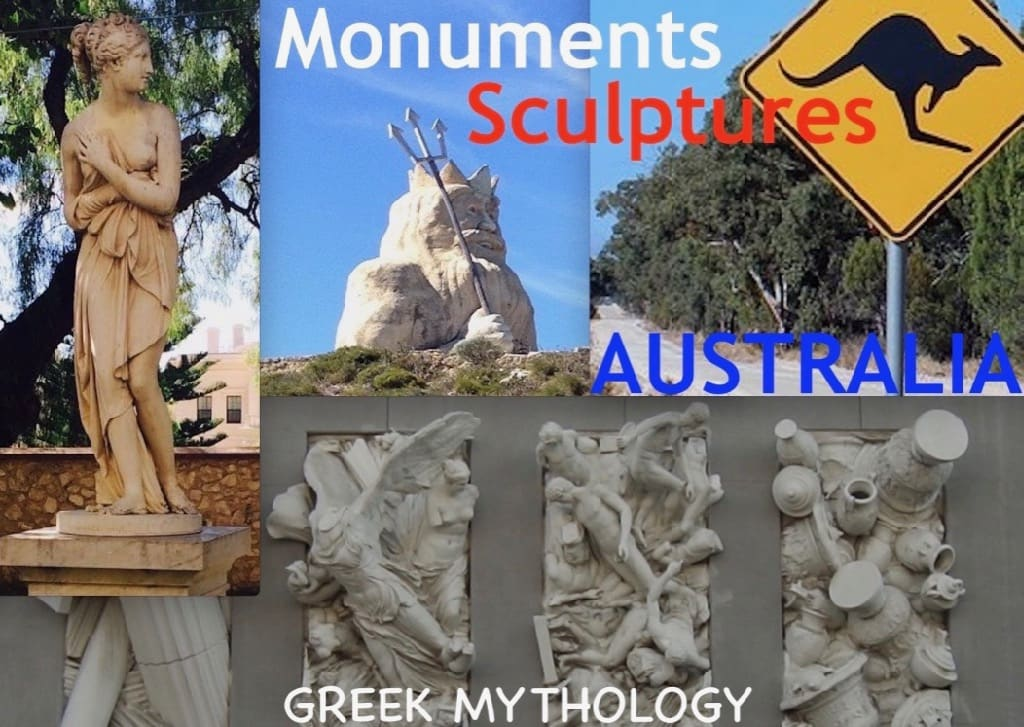 Monuments And Sculptures Of Greek Mythology Honoured In Australia Greek Gods Paradise