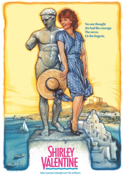 Shirley Valentine Mykonos Movie Poster