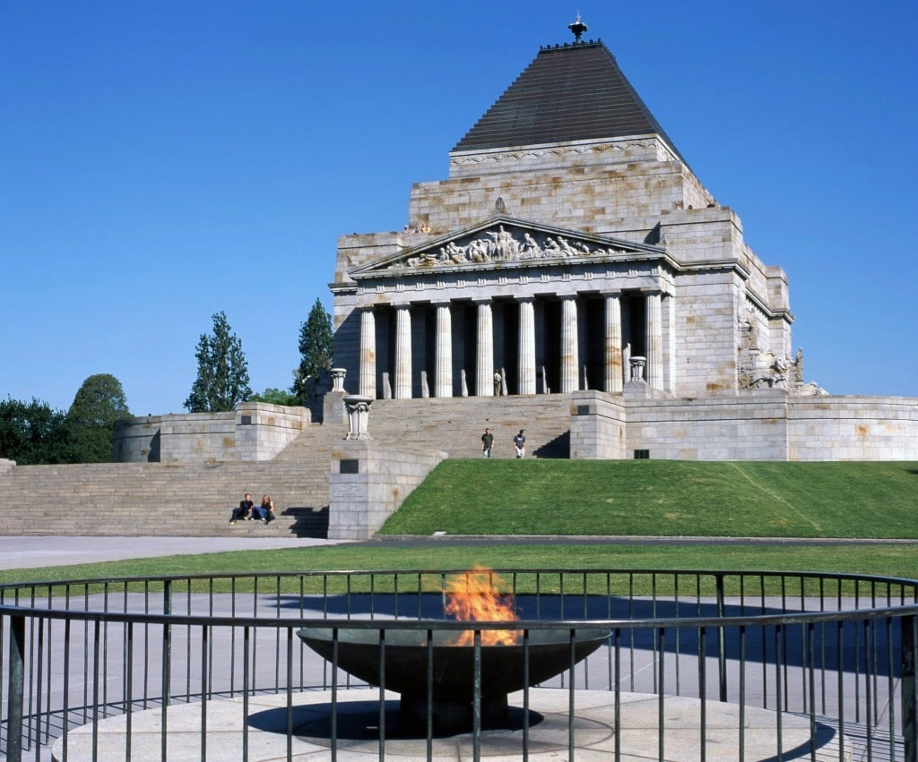 Shrine of Remembrance Greek Mythology Monument Australia