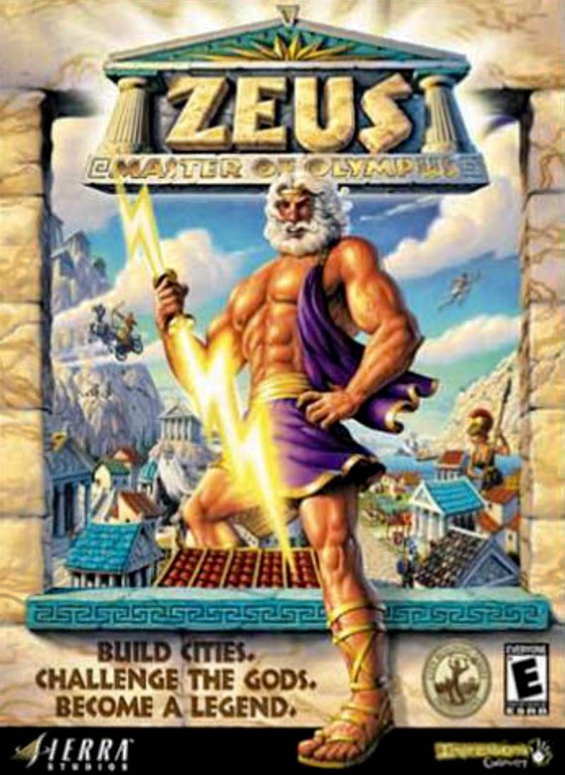 Zeus Master of Olympus Video Game Cover