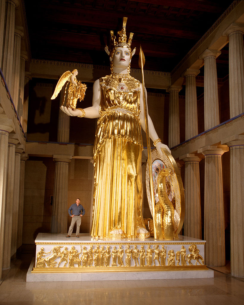 Amazing Sculpture Greek Goddess Athena Parthenos Nashville Tennessee