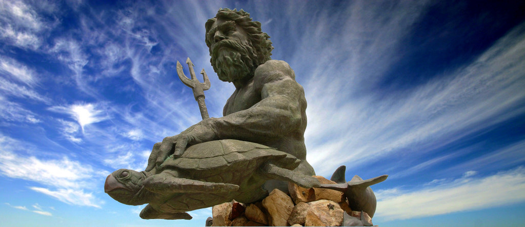 Greek Mythology Statues Neptune Poseidon