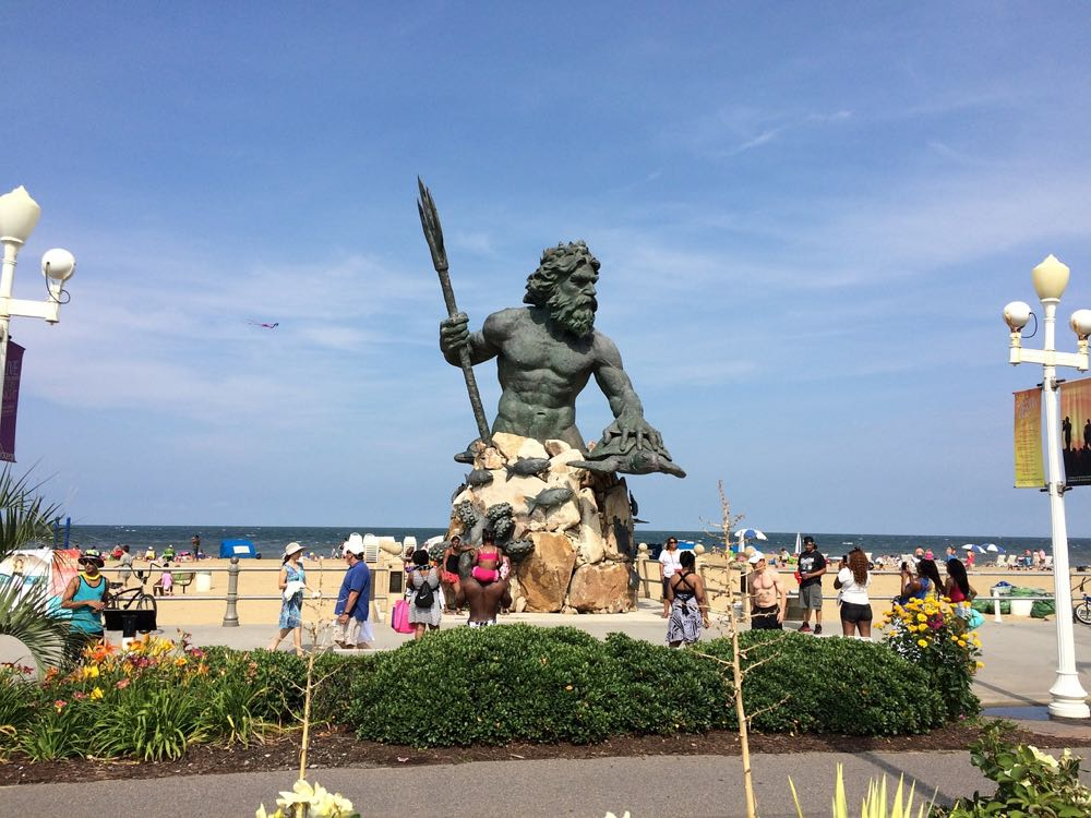 Greek Mythology Statues Neptune Virginia Beach