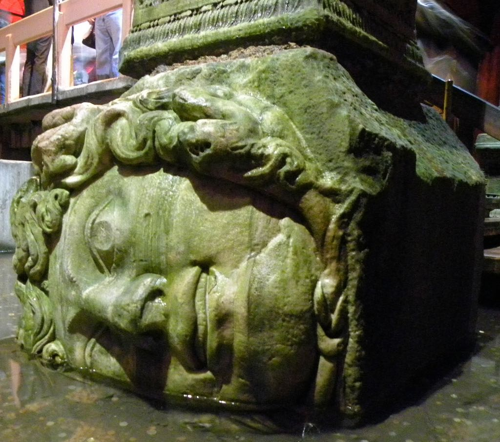 Medusa head supporting column Istanbul