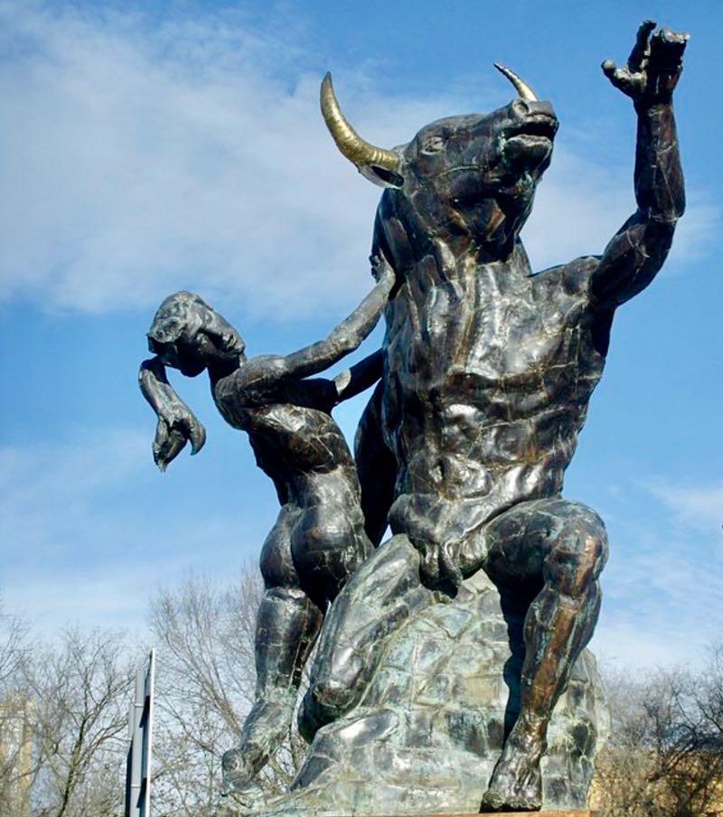 Minotaur Statue in Spain