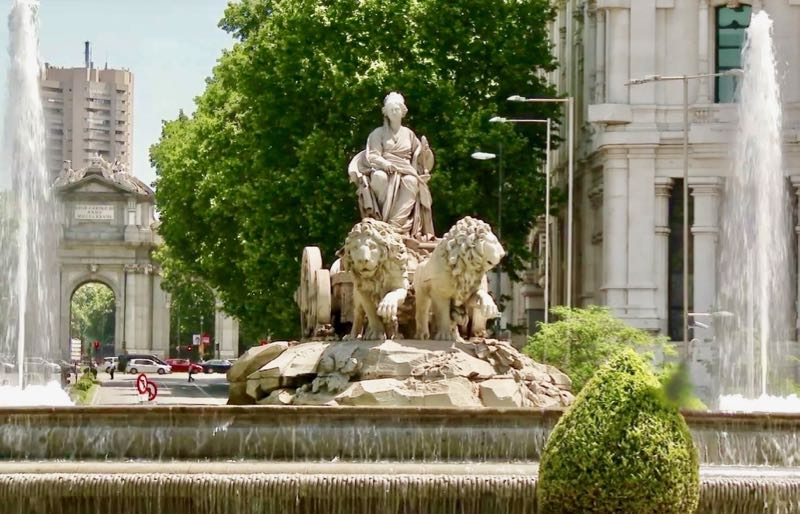 Roman Myth Fountain in Spain